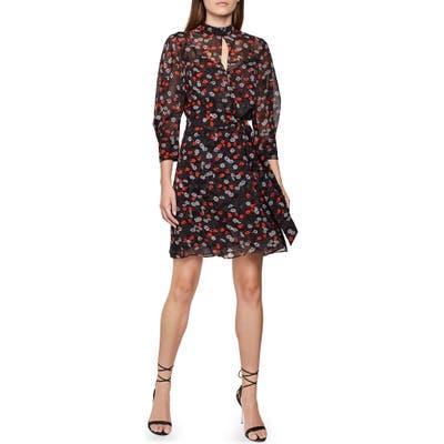 Reiss Peony & Poppy Print Dress, US / 10 UK - Purple
