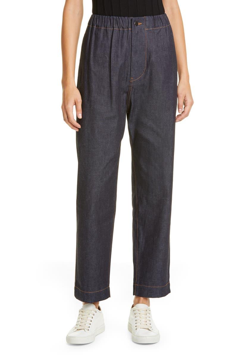 SOFIE D'HOORE Wide Leg Raw Denim Crop Jeans, Main, color, RAW