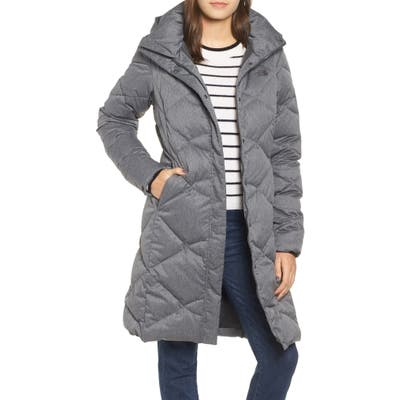 The North Face Miss Metro Ii Water Repellent Hooded Parka, Grey