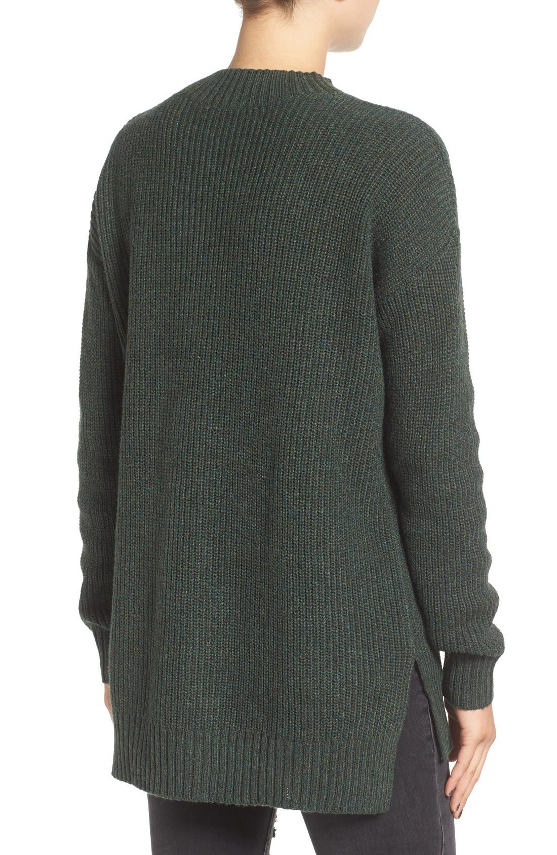 ,                             Ribbed Mock Neck Pullover,                             Alternate thumbnail 16, color,                             310