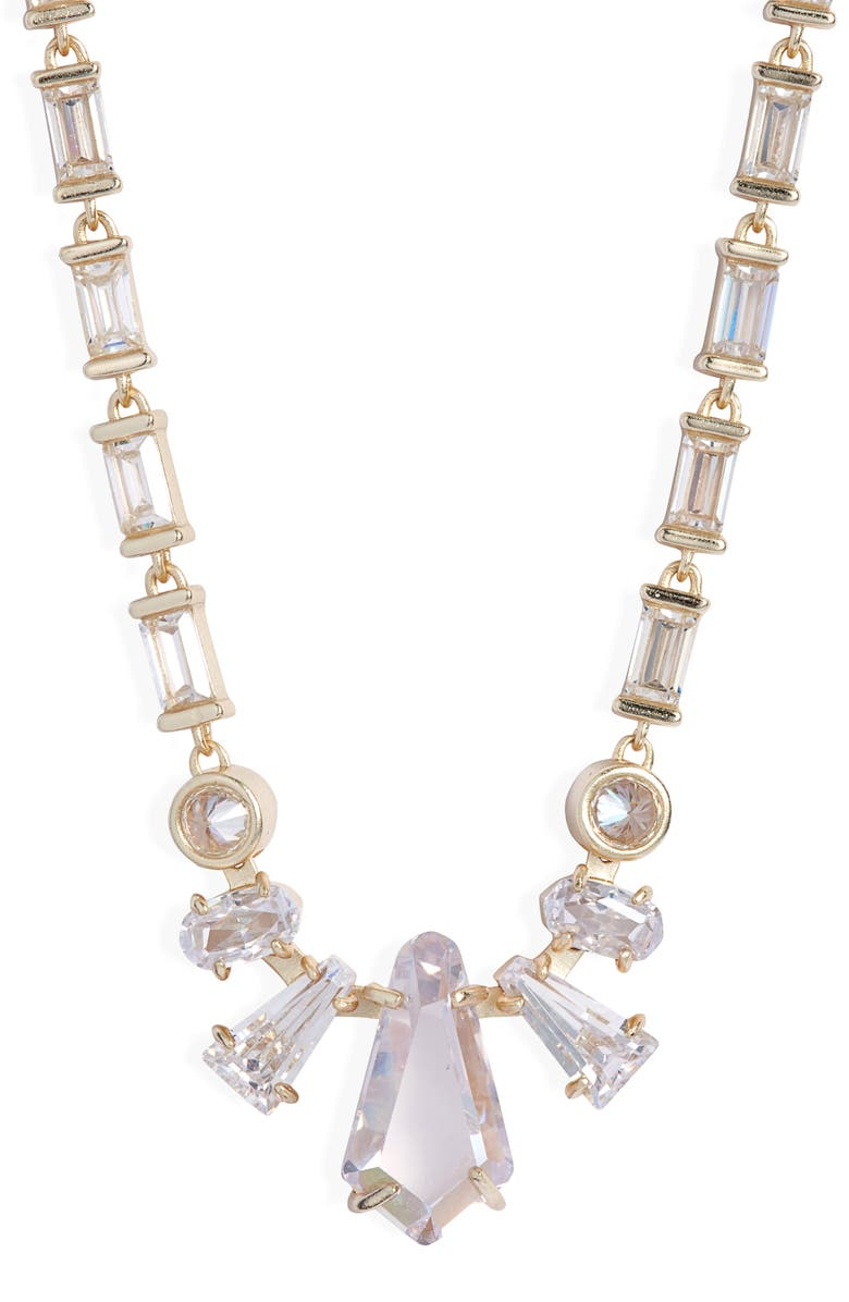 KENDRA SCOTT Christianne Necklace, Main, color, GOLD LUSTRE/ GLASS CZ