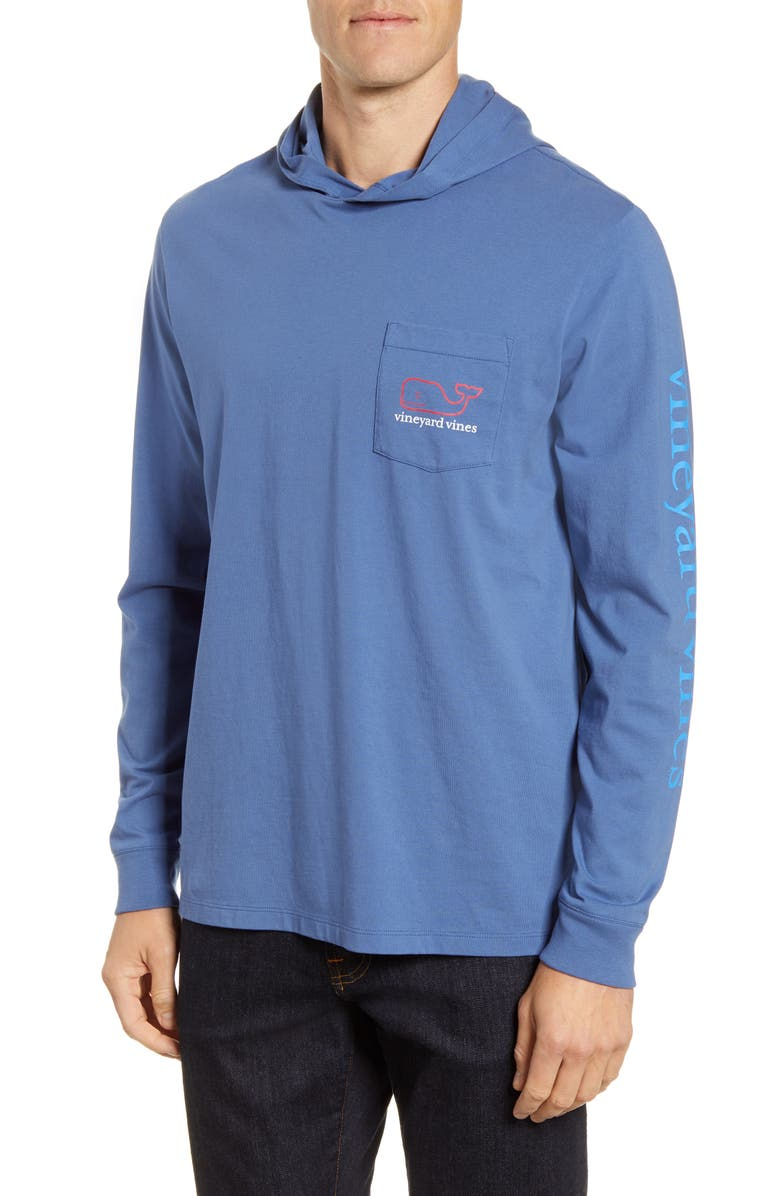 VINEYARD VINES Whale Hooded Pullover Shirt, Main, color, 401