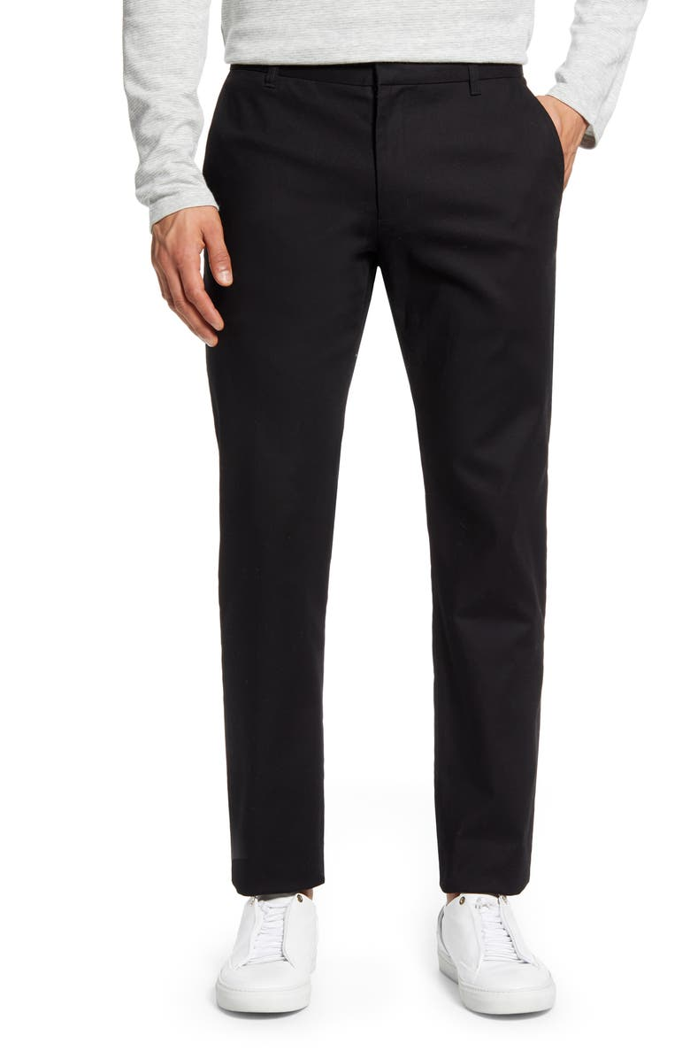 VINCE Griffith Slim Fit Chinos, Main, color, BLACK