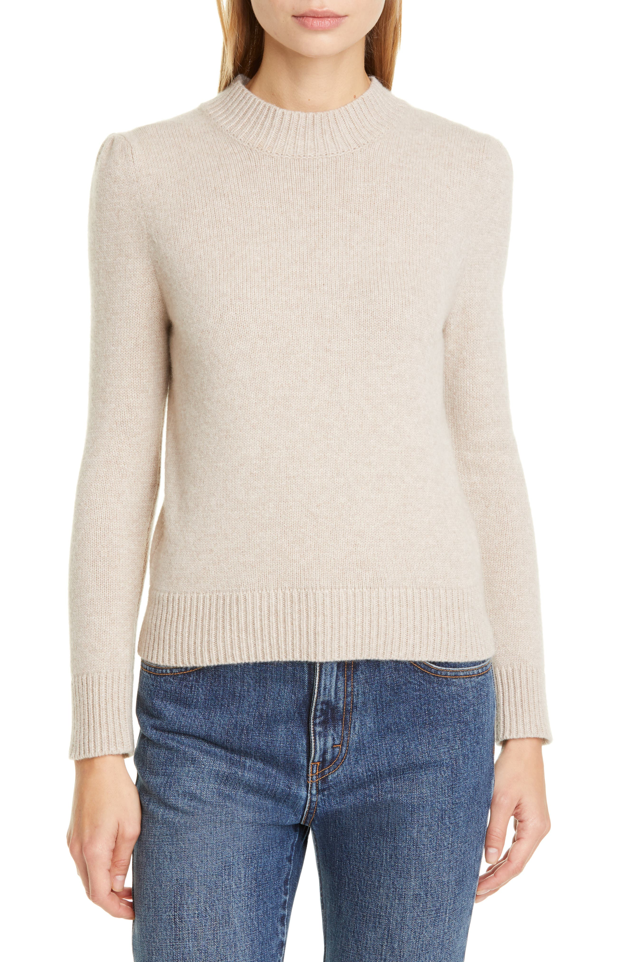 Gathered shoulders add charming detail to this cropped cashmere sweater, part of Co\\\'s well-edited collection of classic wardrobe staples. Style Name: Co Essentials Cashmere Crop Sweater. Style Number: 5937389. Available in stores.