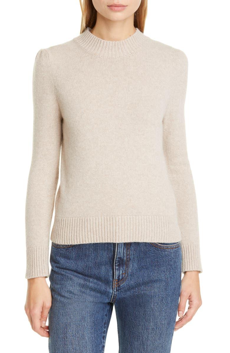 CO Essentials Cashmere Crop Sweater, Main, color, SAND MELANGE