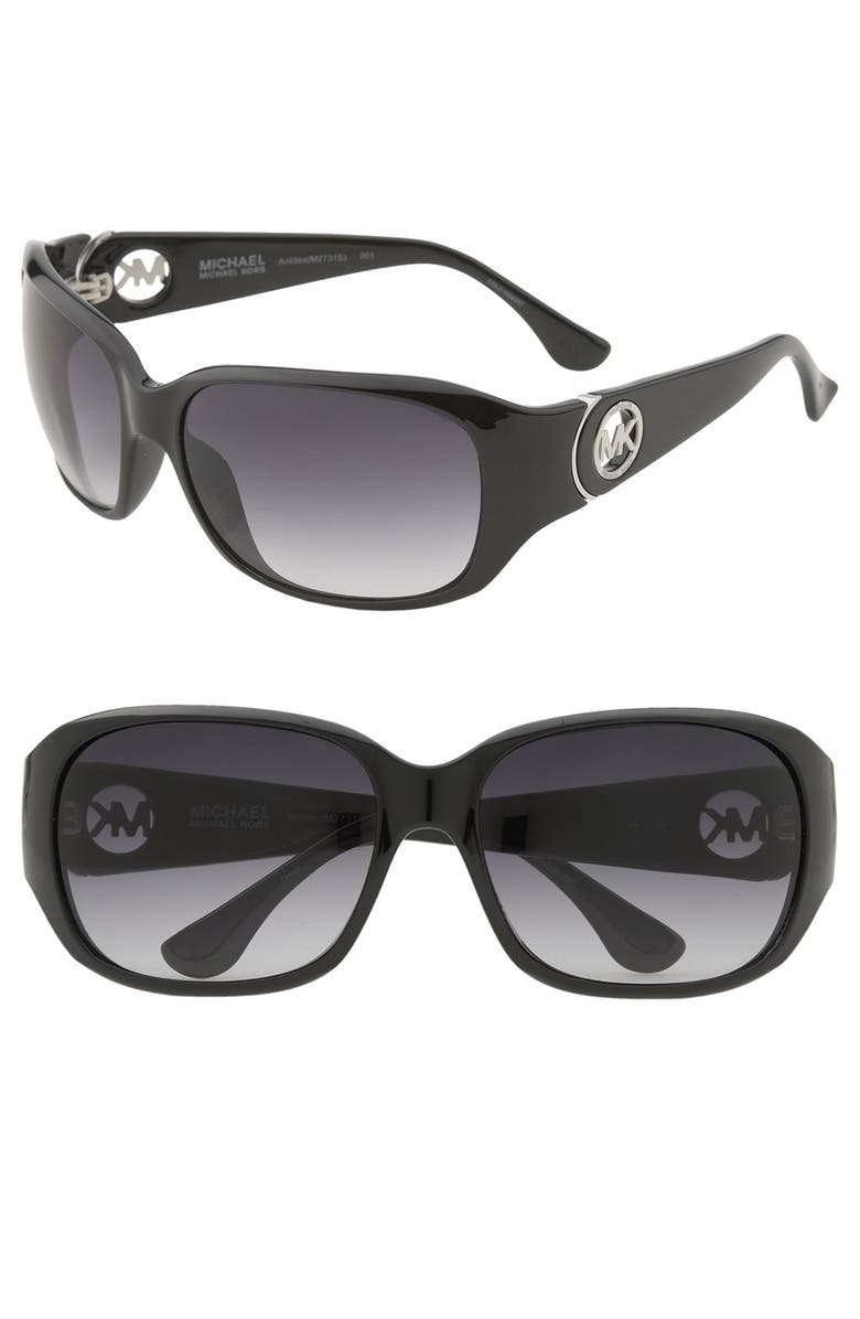 MICHAEL MICHAEL KORS 'Antilles' Square Sunglasses, Main, color, 001