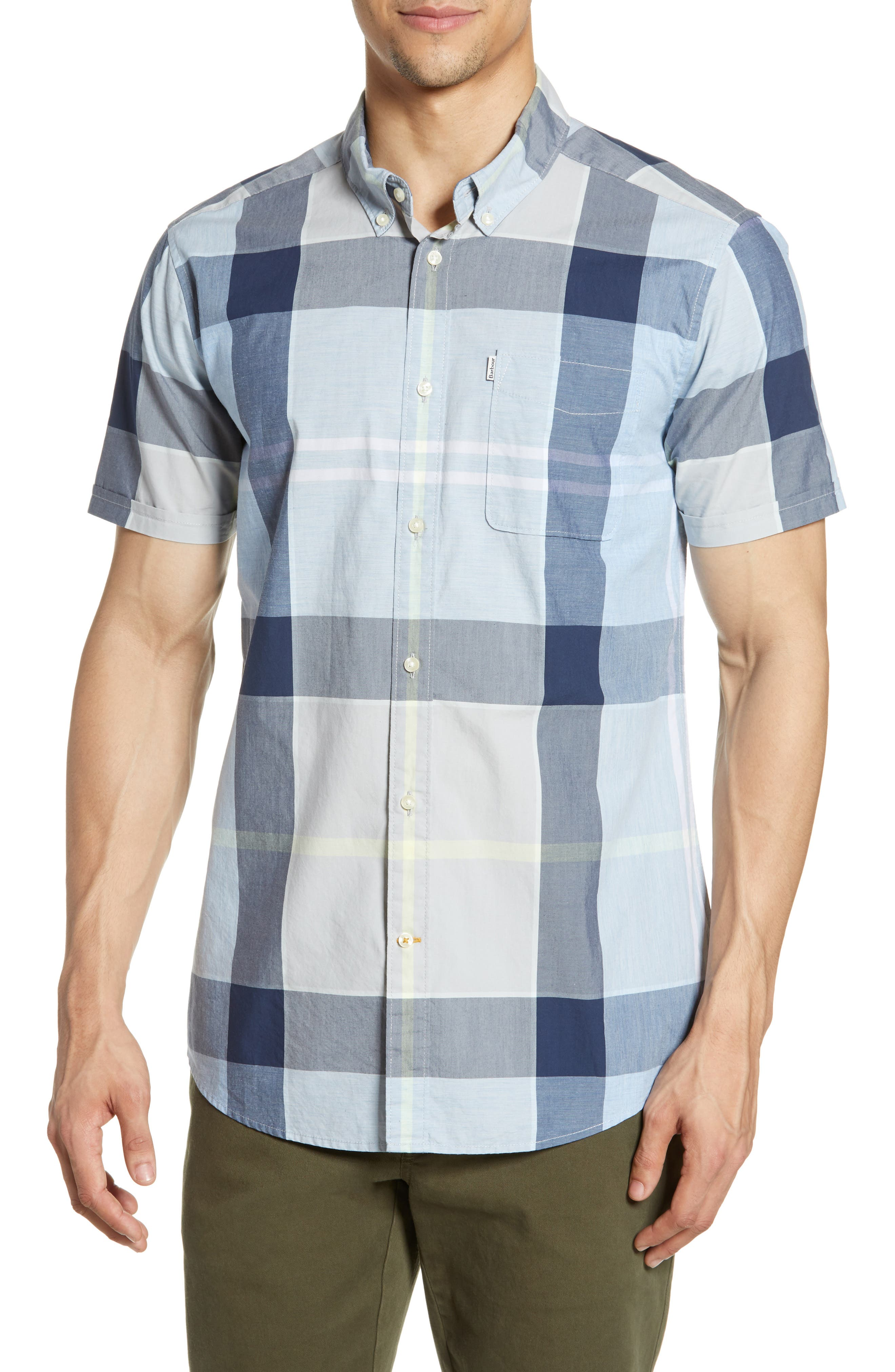 Barbour Croft Tailored Fit Plaid Woven Shirt