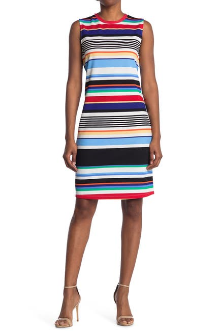 Image of TASH + SOPHIE Sleeveless Midi Sheath Dress