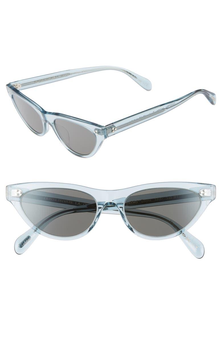 OLIVER PEOPLES Zasia 53mm Cat Eye Sunglasses, Main, color, LIGHT DENIM