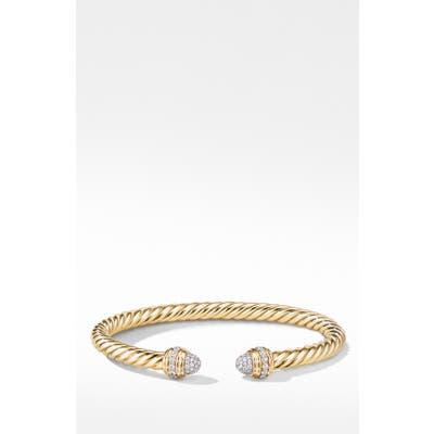 David Yurman Cable Cuff Bracelet With Diamonds