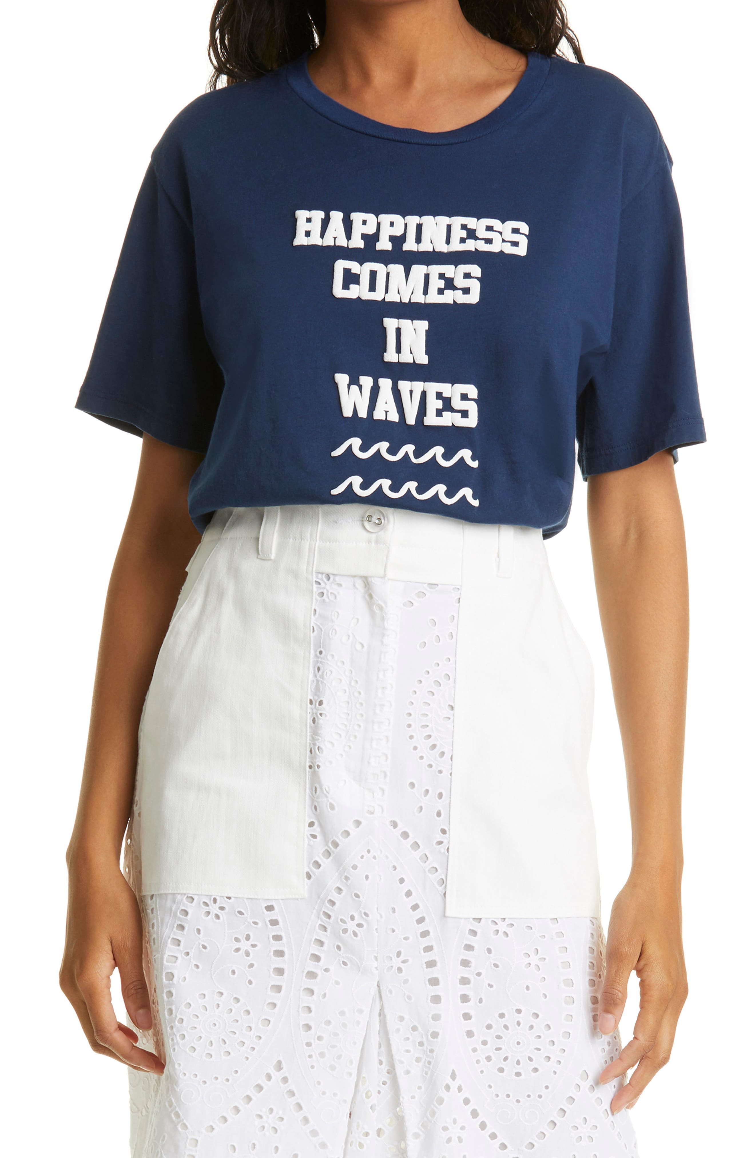 Happiness Comes In Waves Graphic Tee