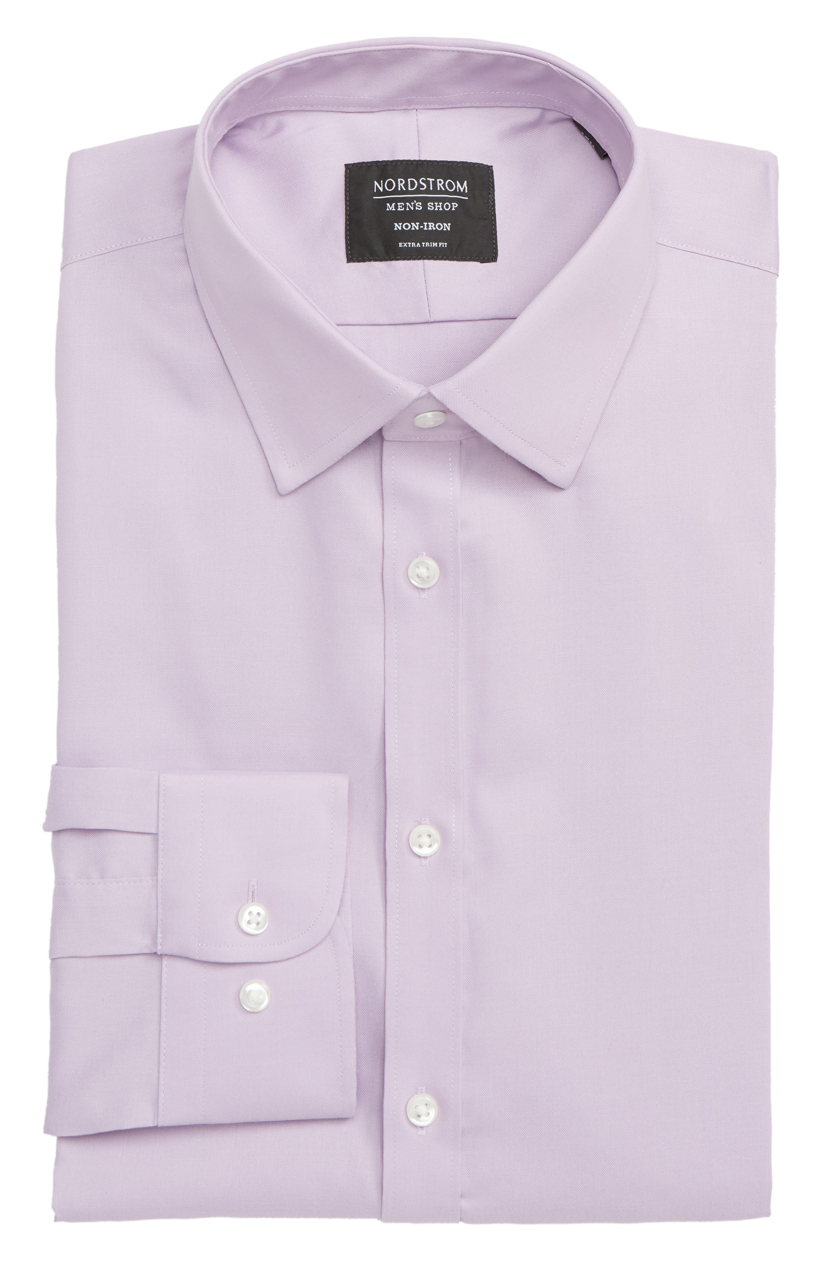 ,                             Extra Trim Fit Non-Iron Solid Dress Shirt,                             Alternate thumbnail 35, color,                             520