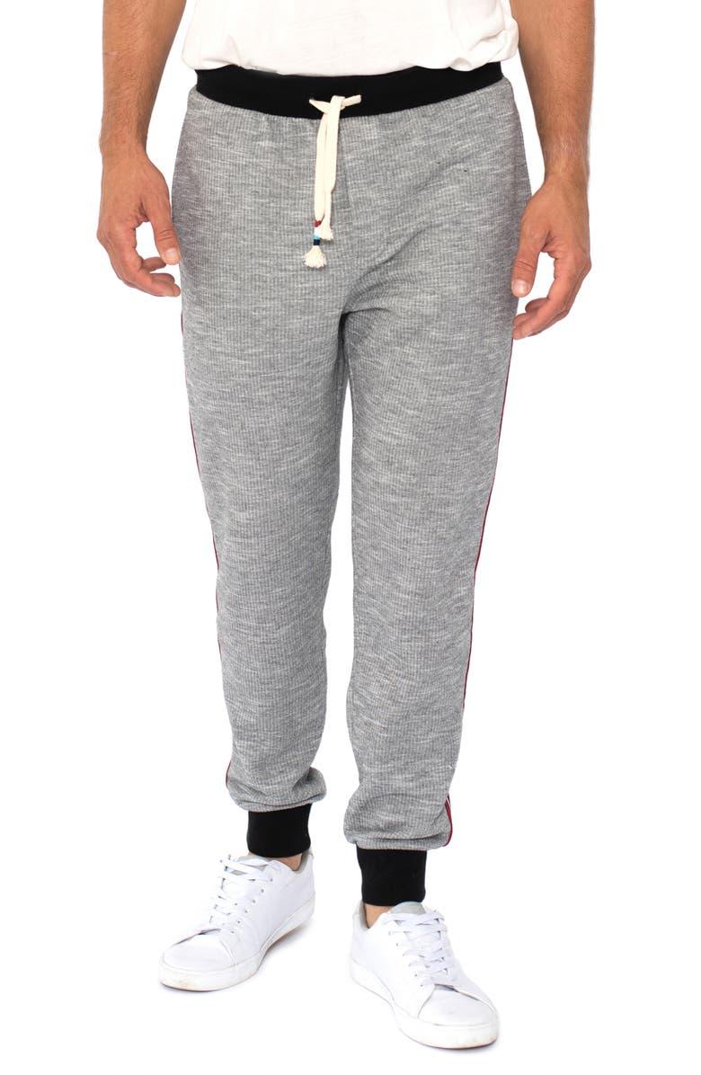 SOL ANGELES Side Stripe Jogger Pants, Main, color, BLACK
