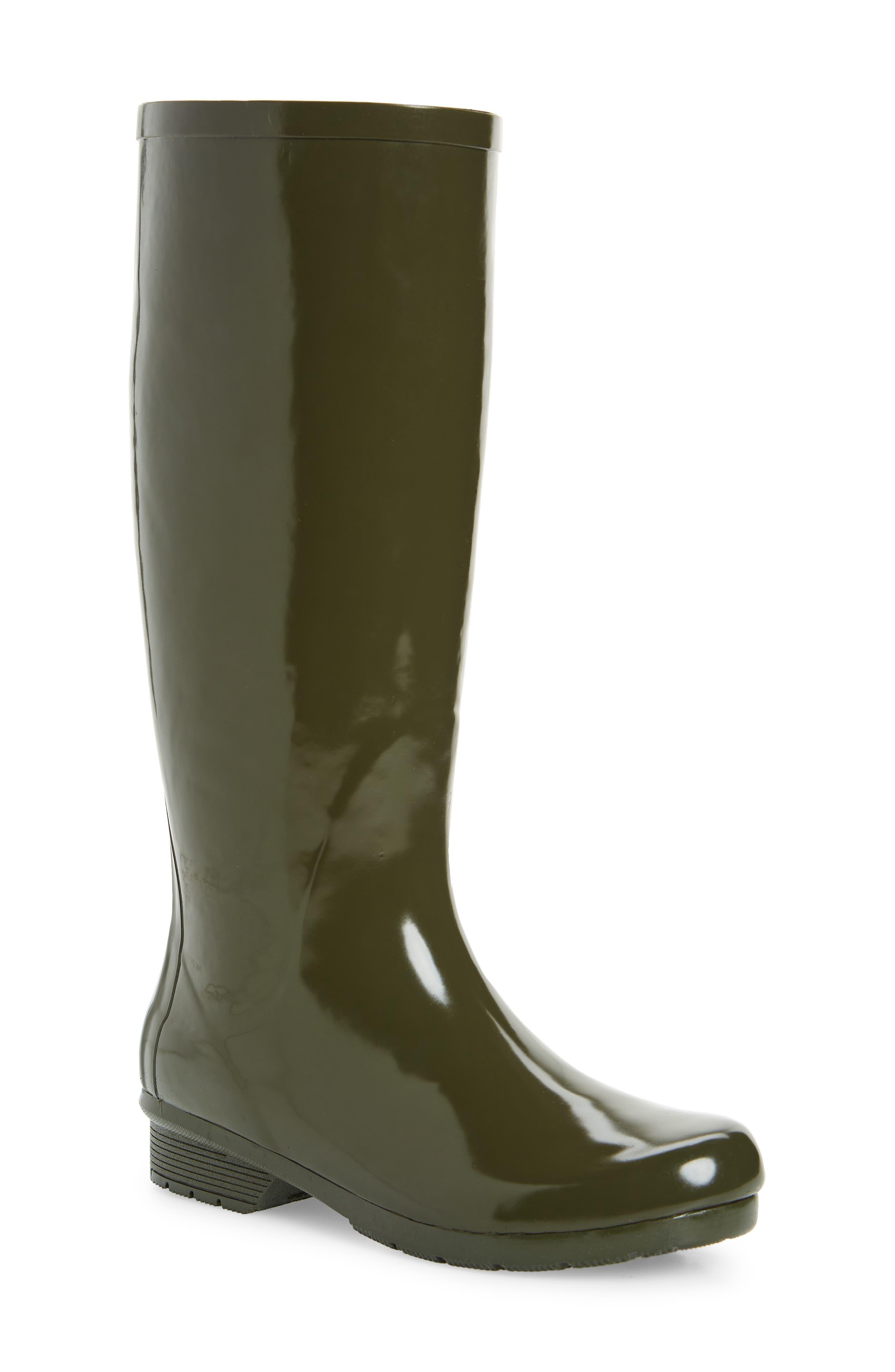 Polished Waterproof Tall Rain Boot