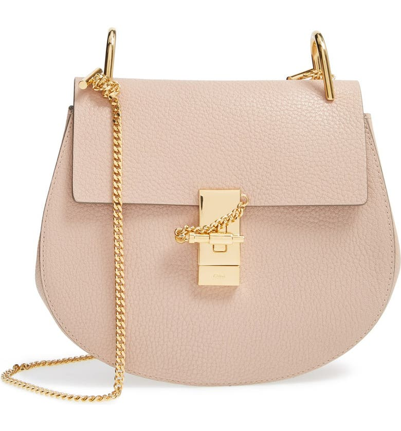 CHLOÉ Drew Leather Shoulder Bag, Main, color, 650
