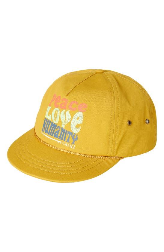 O'neill Hiker Canvas Baseball Hat In Mimosa