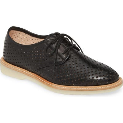 Johnston & Murphy Fiona Perforated Derby- Black