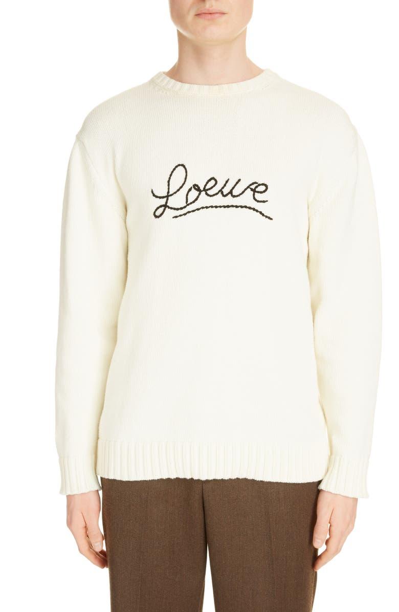 LOEWE Stitch Sweater, Main, color, ECRU