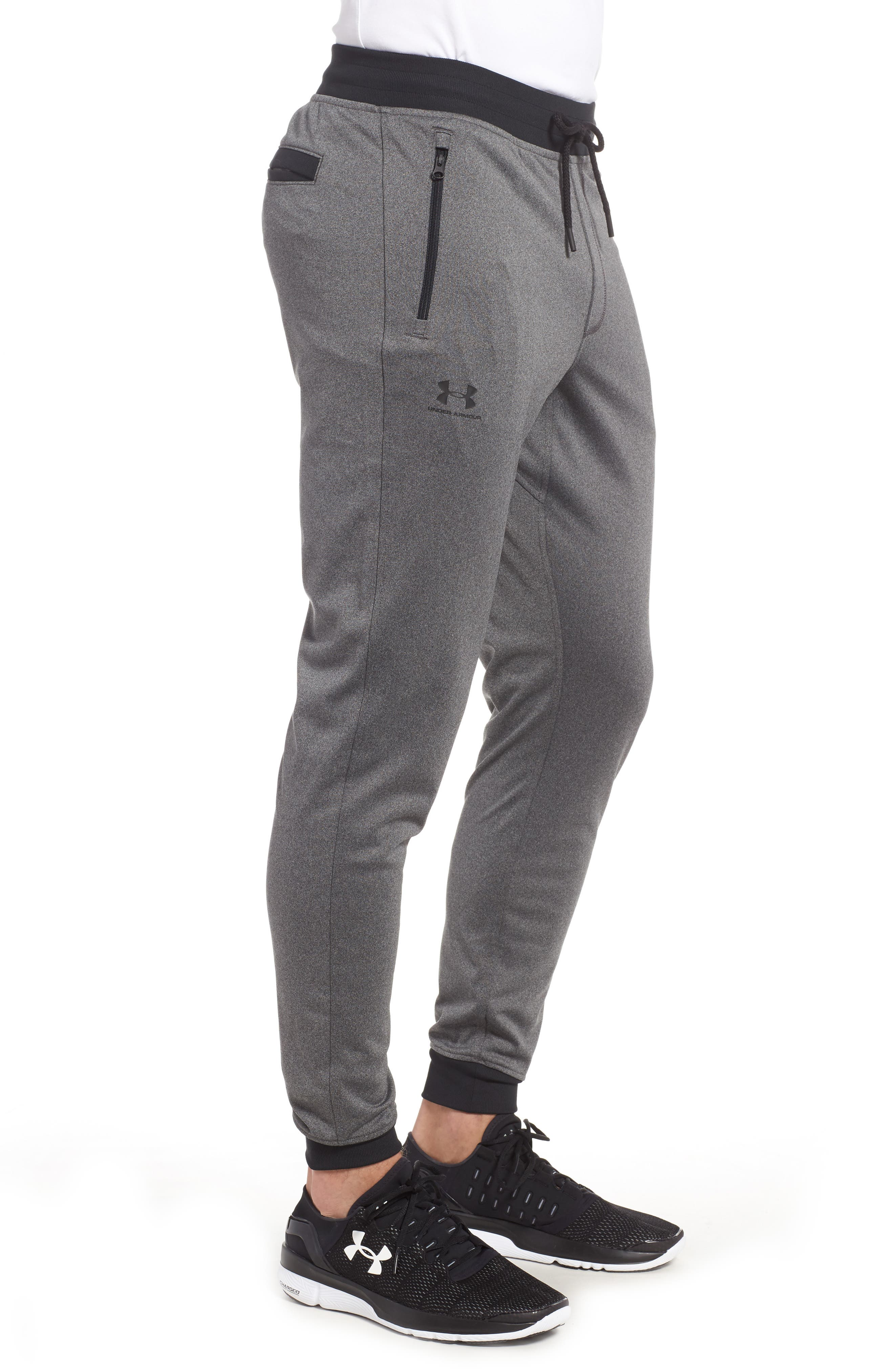 ,                             Sportstyle Knit Jogger Pants,                             Alternate thumbnail 4, color,                             GREY