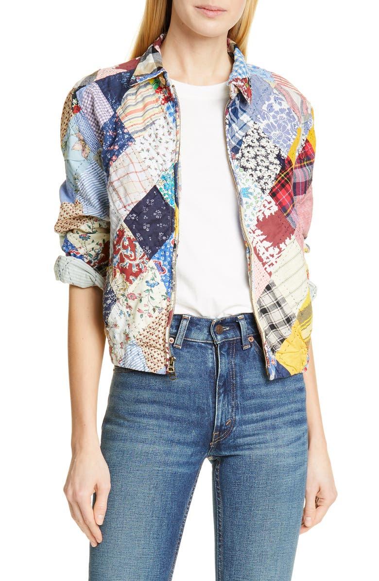 POLO RALPH LAUREN Patchwork Cotton & Linen Jacket, Main, color, 400