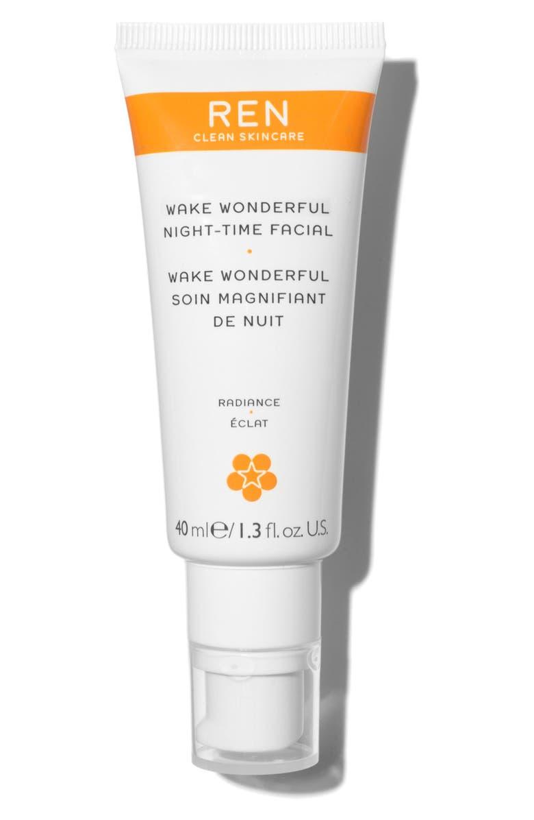 REN CLEAN SKINCARE Wake Wonderful Night-Time Facial Exfoliating Treatment, Main, color, NO COLOR