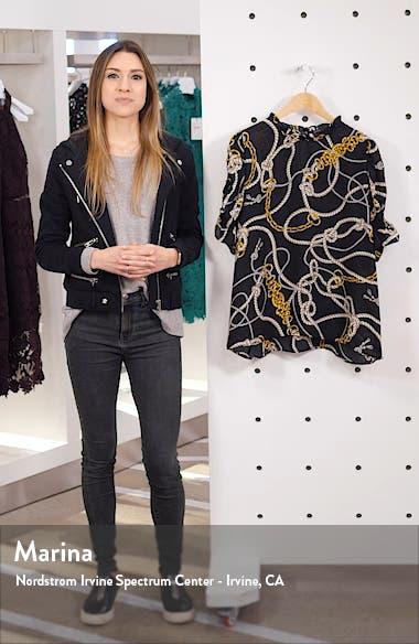 Rebecca Print Ruffle Sleeve Blouse, sales video thumbnail