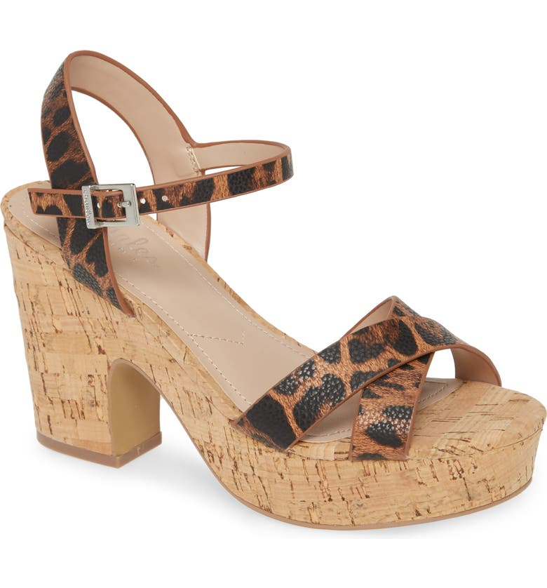 CHARLES BY CHARLES DAVID Departed Sandal, Main, color, CAMEL FAUX LEATHER