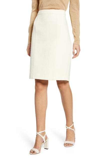 Anne Klein Skirts COTTON BLEND TWEED PENCIL SKIRT