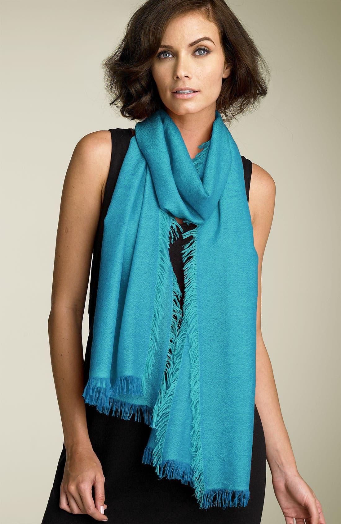 ,                             'Eyelash' Colorblock Cashmere Wrap,                             Main thumbnail 41, color,                             420