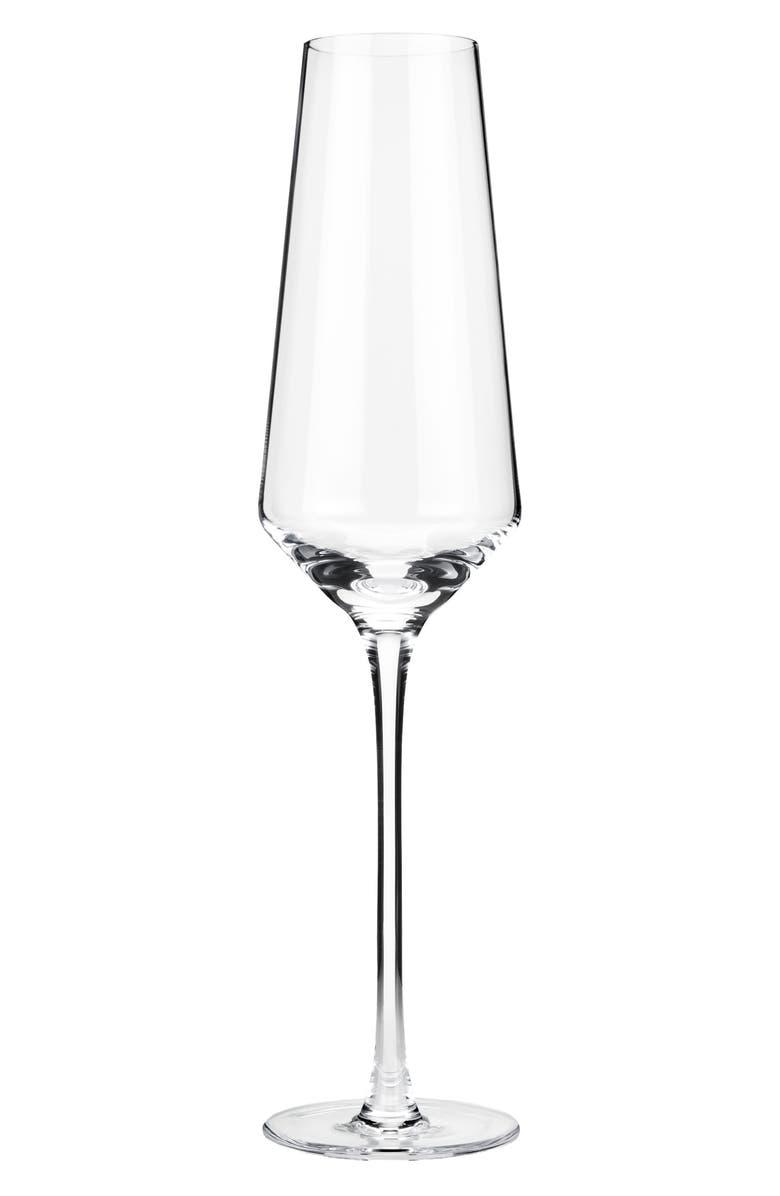 VISKI Raye Set of 2 Crystal Champagne Flutes, Main, color, 100