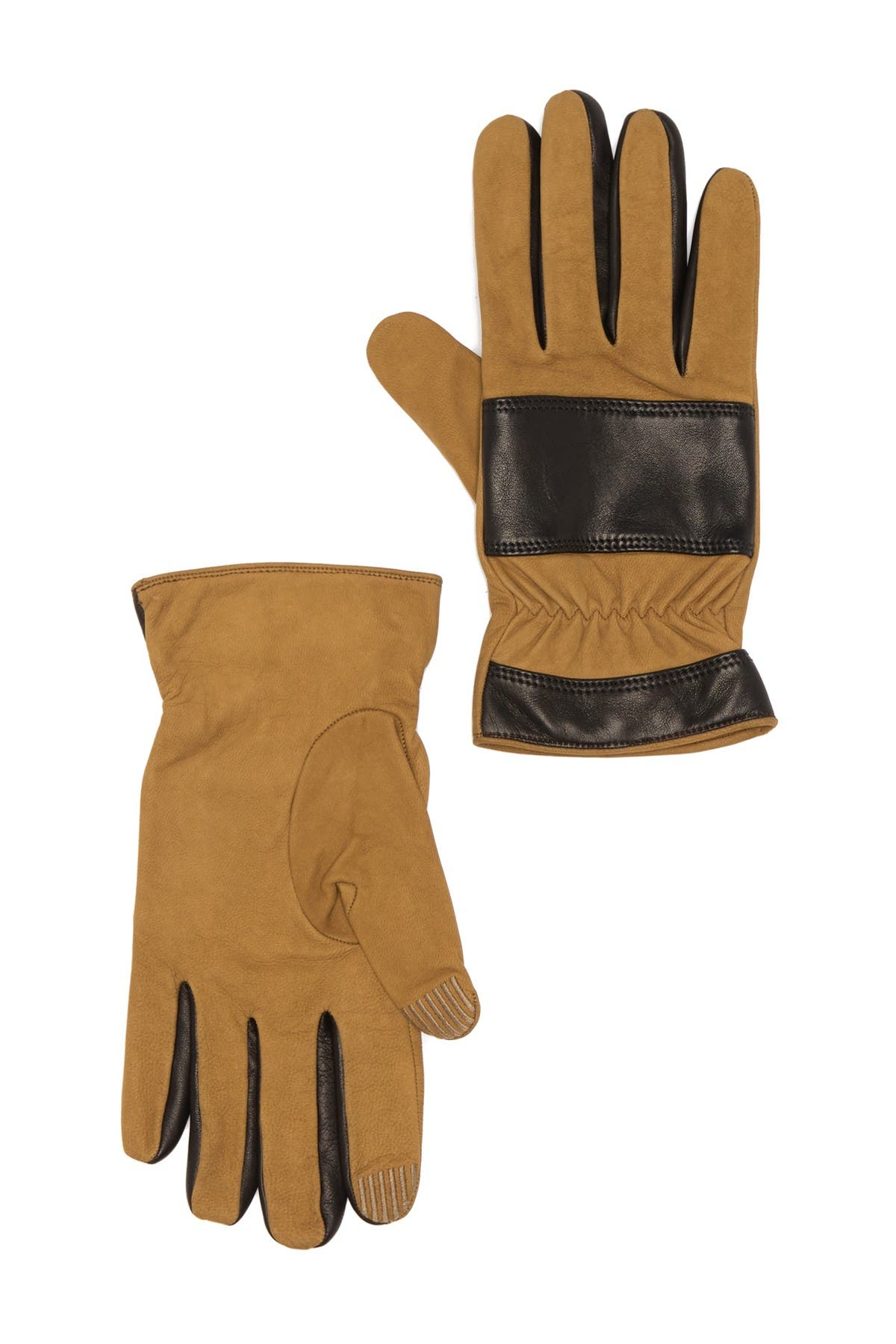 Image of Theory Downtown Pieced Touchscreen Compatible Gloves