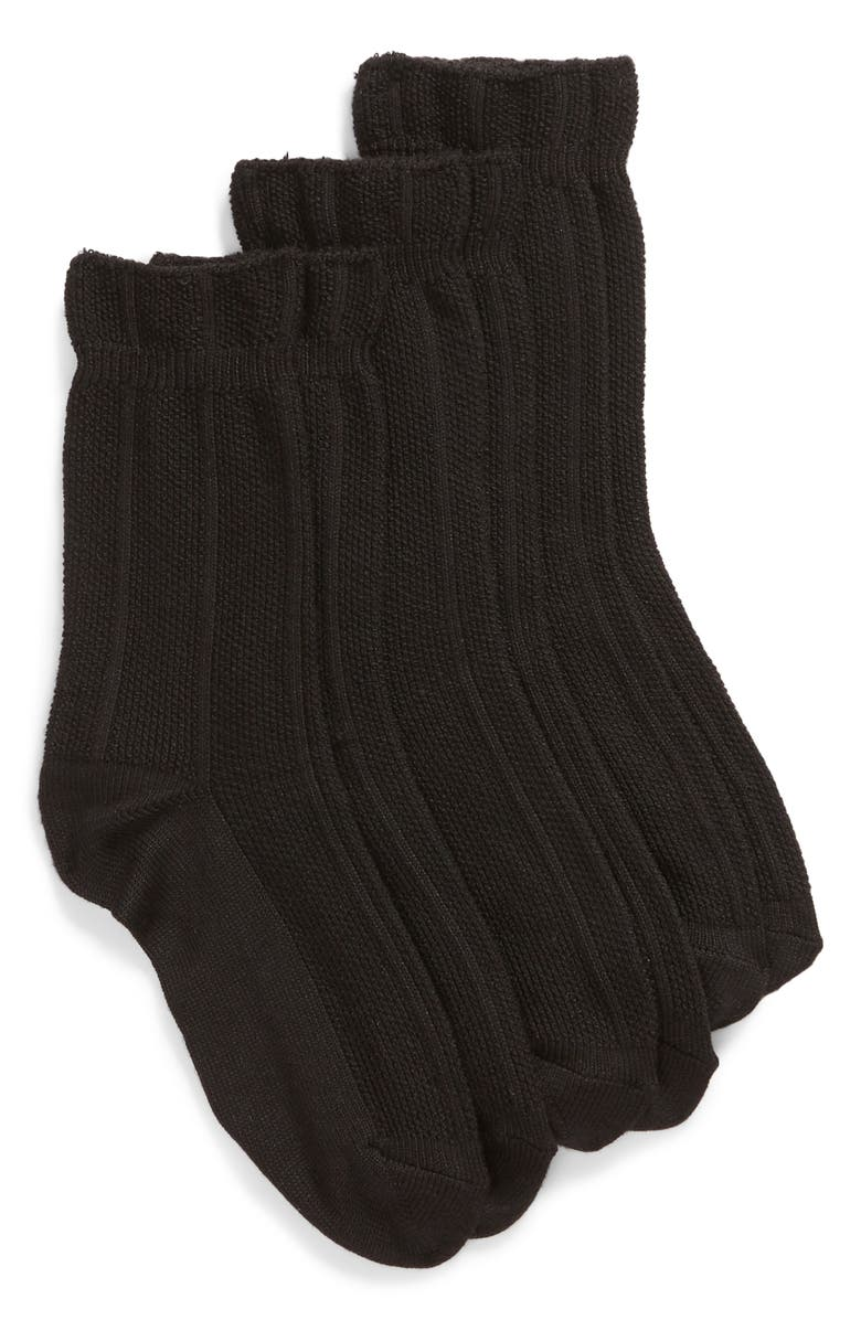 HUE 3-Pack Supersoft Pebblestitch Boot Socks, Main, color, 001