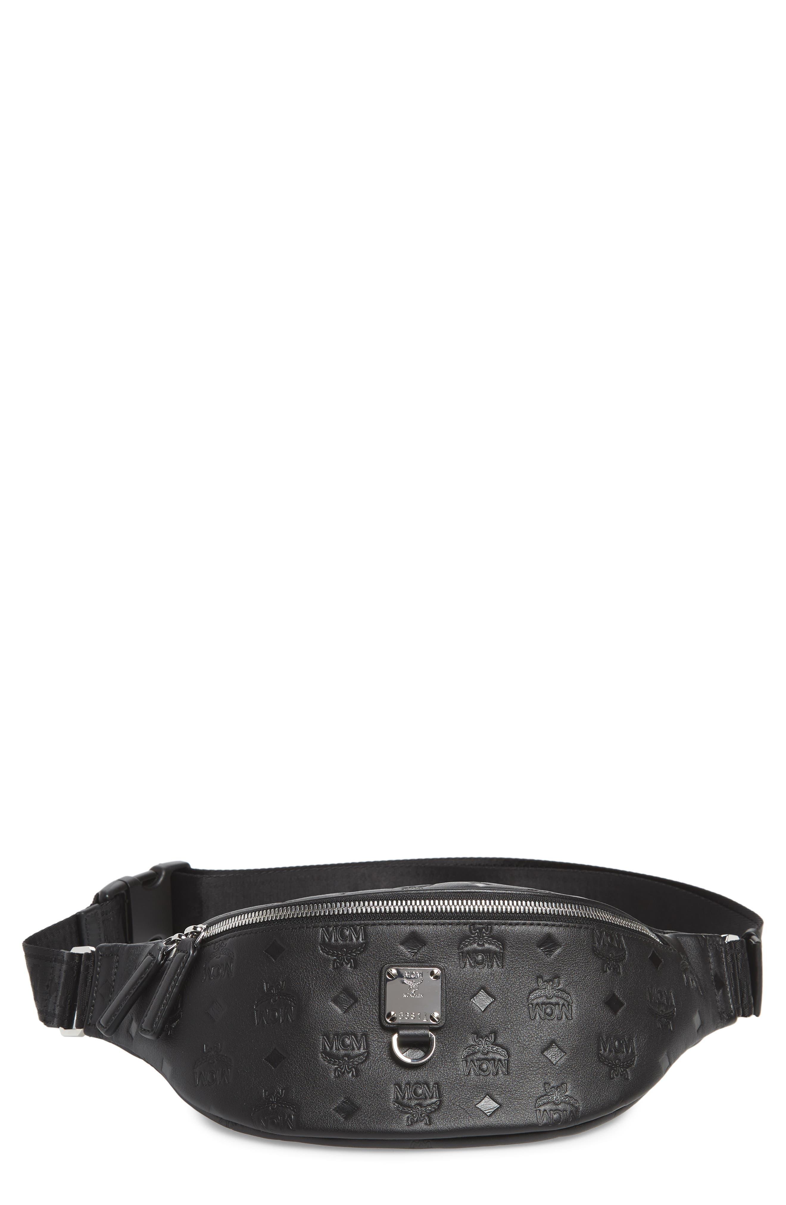 Mcm Belt Fursten Visetos Leather Belt Bag