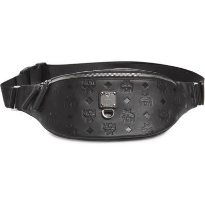 Mcm Fursten Visetos Leather Belt Bag - Black