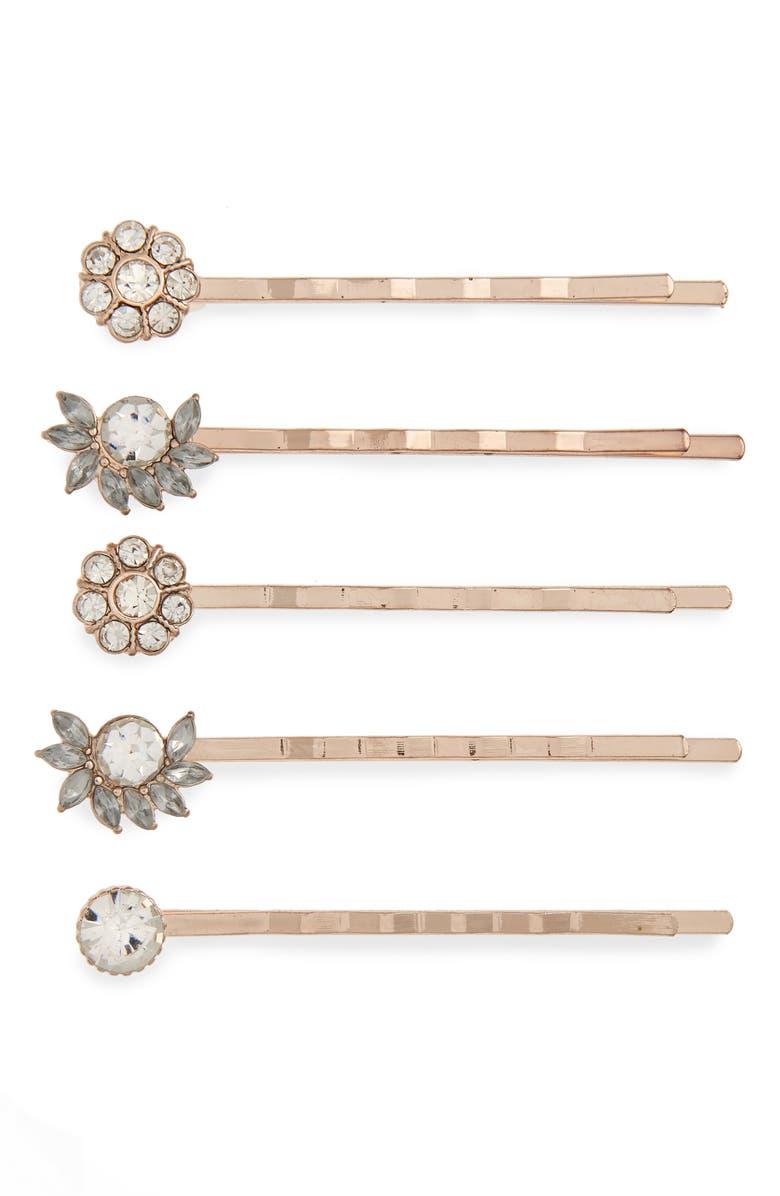 BP. 5-Pack Flower Hair Pins, Main, color, 710
