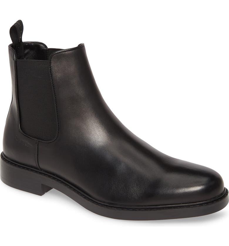 CALVIN KLEIN Fenwick Chelsea Boot, Main, color, BLACK