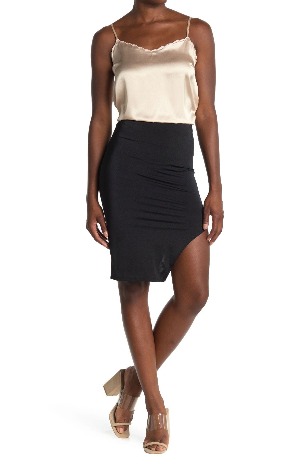 Image of Know One Cares Woven Bodycon Skirt