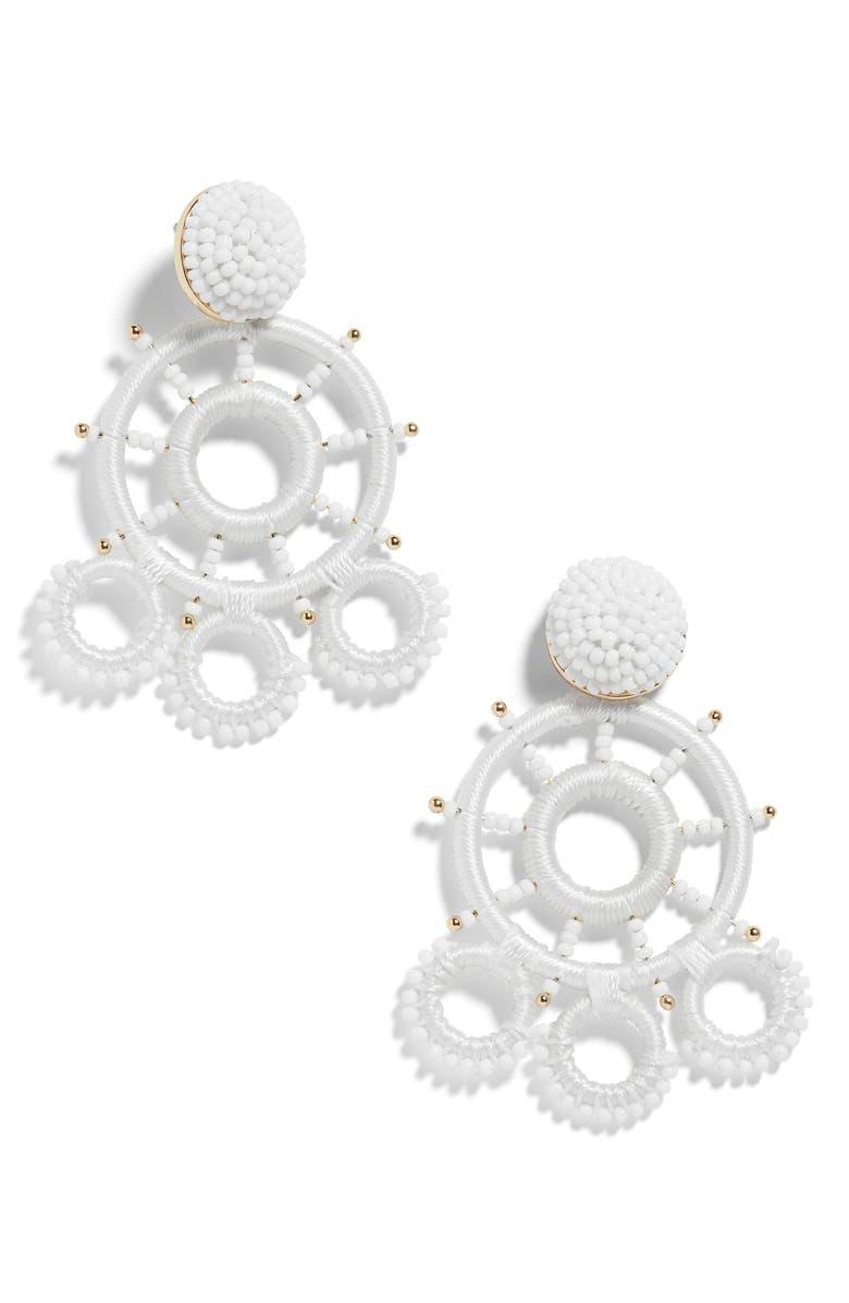 BAUBLEBAR Maresa Beaded Drop Earrings, Main, color, 100