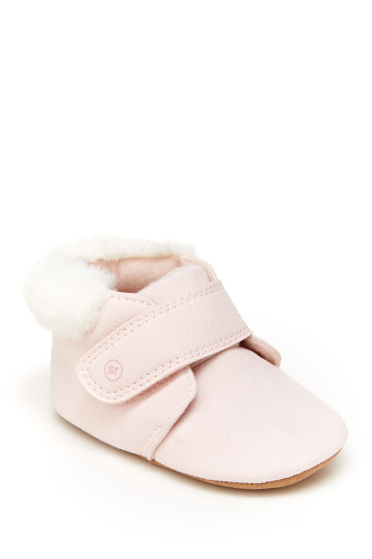 Image of Stride Rite Miles Faux Fur Trimmed Crib Shoe