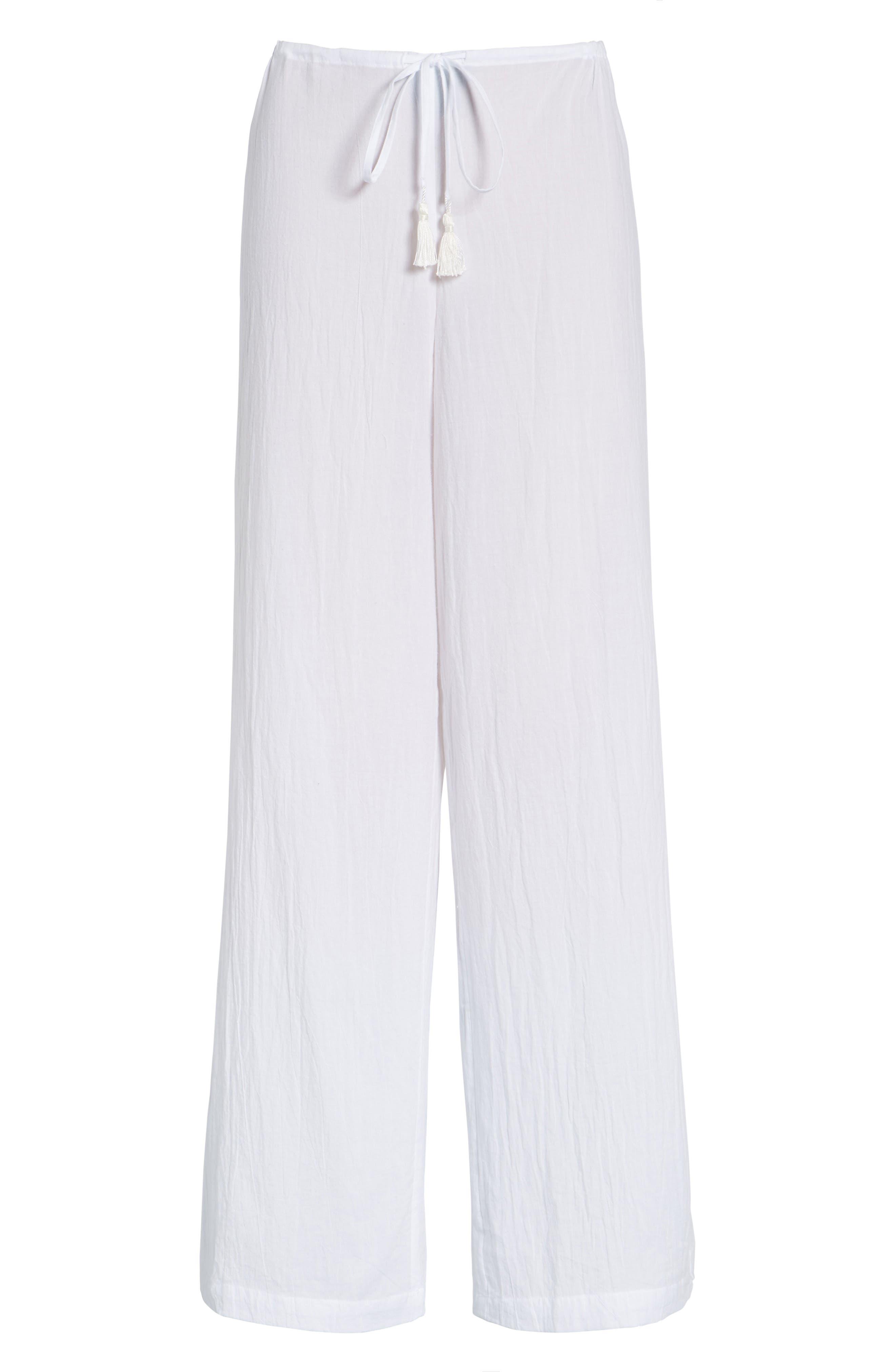 ,                             Cover-Up Pants,                             Main thumbnail 1, color,                             WHITE