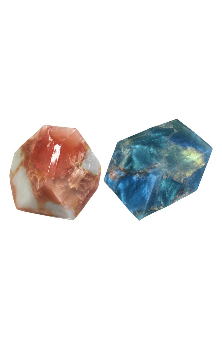 SOAPROCKS Labradorite & Rose Gold Soap Duo, Main, color, 400