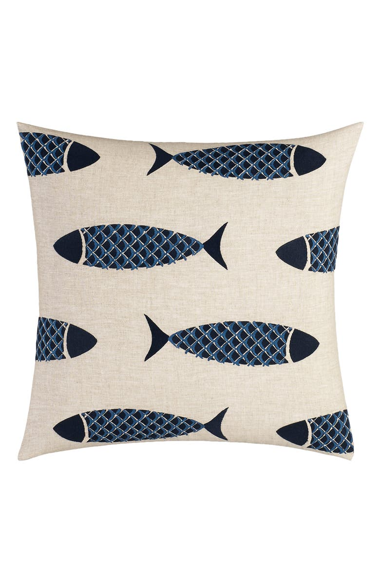 NAUTICA Lockridge Embroidered Pillow, Main, color, 235
