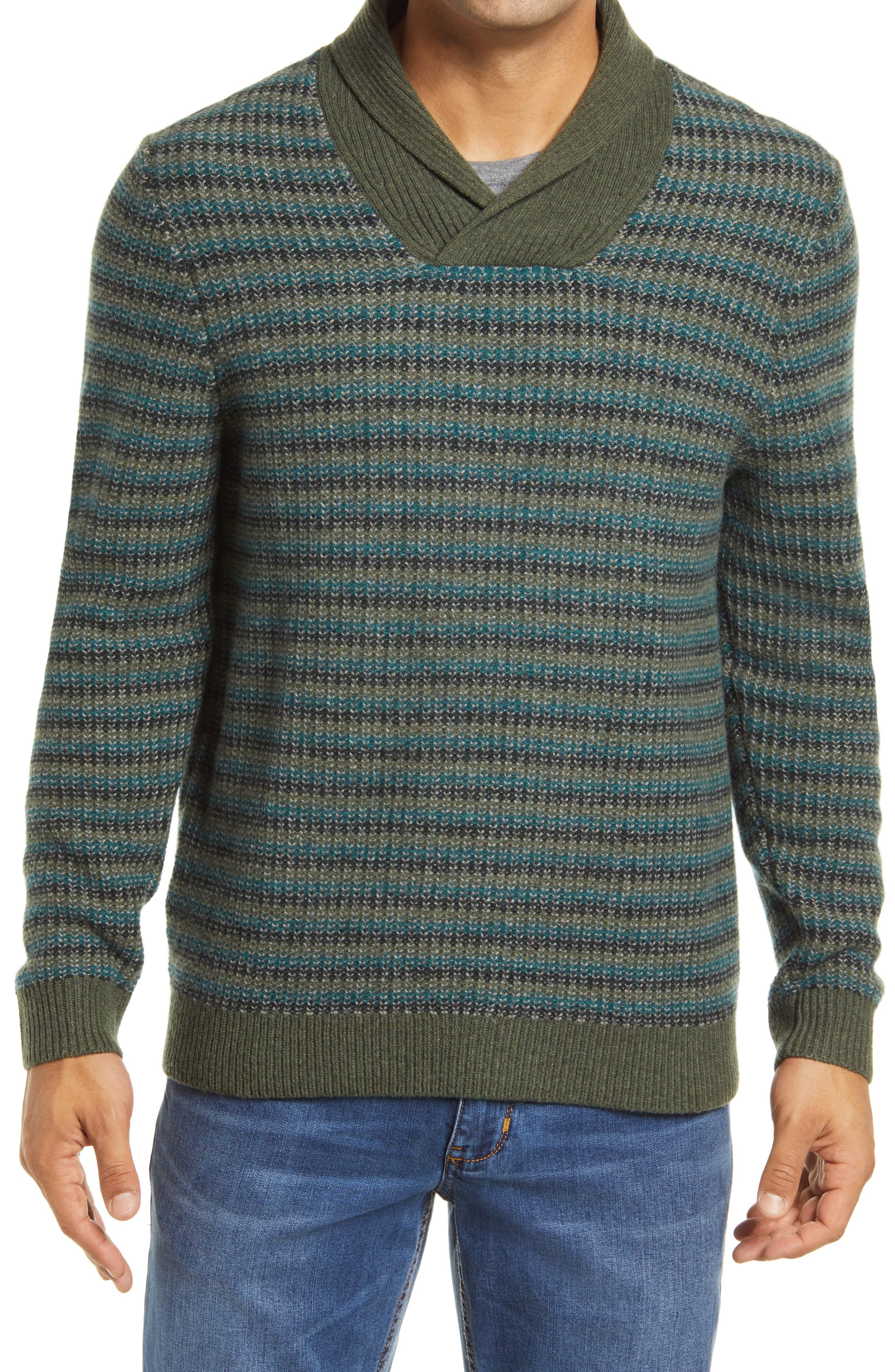 60s 70s Men's Jackets & Sweaters Mens Tommy Bahama Bungalow Beach Shawl Merino Wool Sweater $198.00 AT vintagedancer.com
