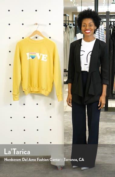 Love Graphic Crewneck Sweatshirt, sales video thumbnail