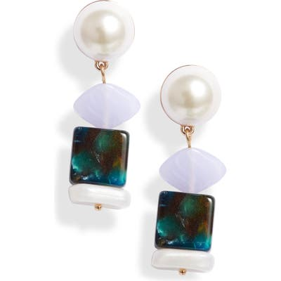 Lele Sadoughi Mini Stacked Stone Earrings (Nordstrom Exclusive)