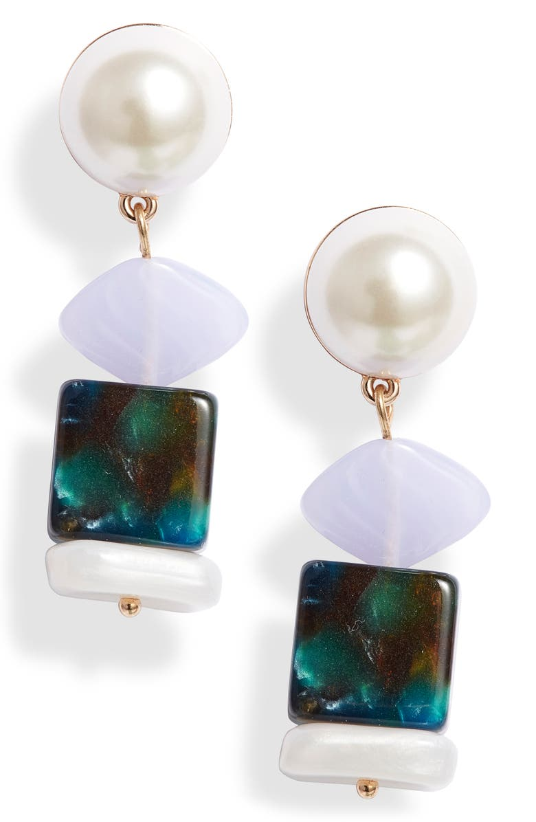 LELE SADOUGHI Mini Stacked Stone Earrings, Main, color, 300