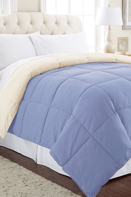 Image of Modern Threads Down Alternative Reversible Queen Comforter - Blue/Cream