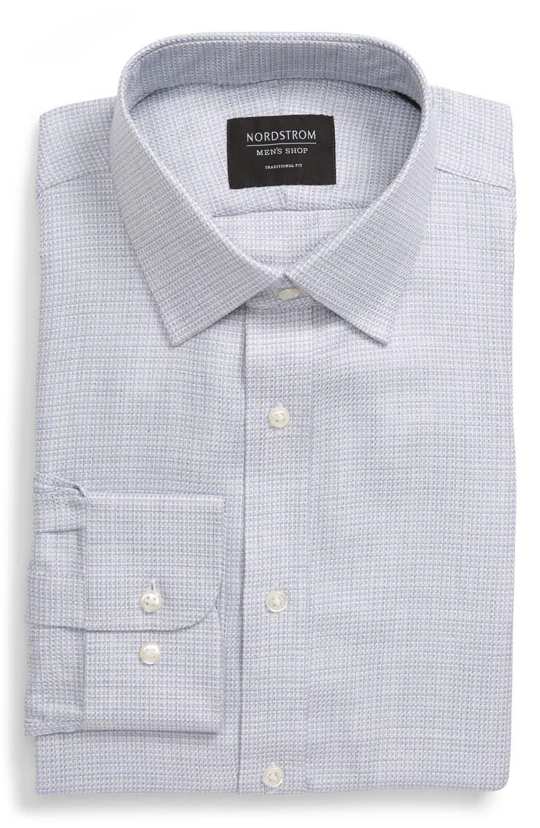 NORDSTROM MEN'S SHOP Traditional Fit Dress Shirt, Main, color, BLUE FOG