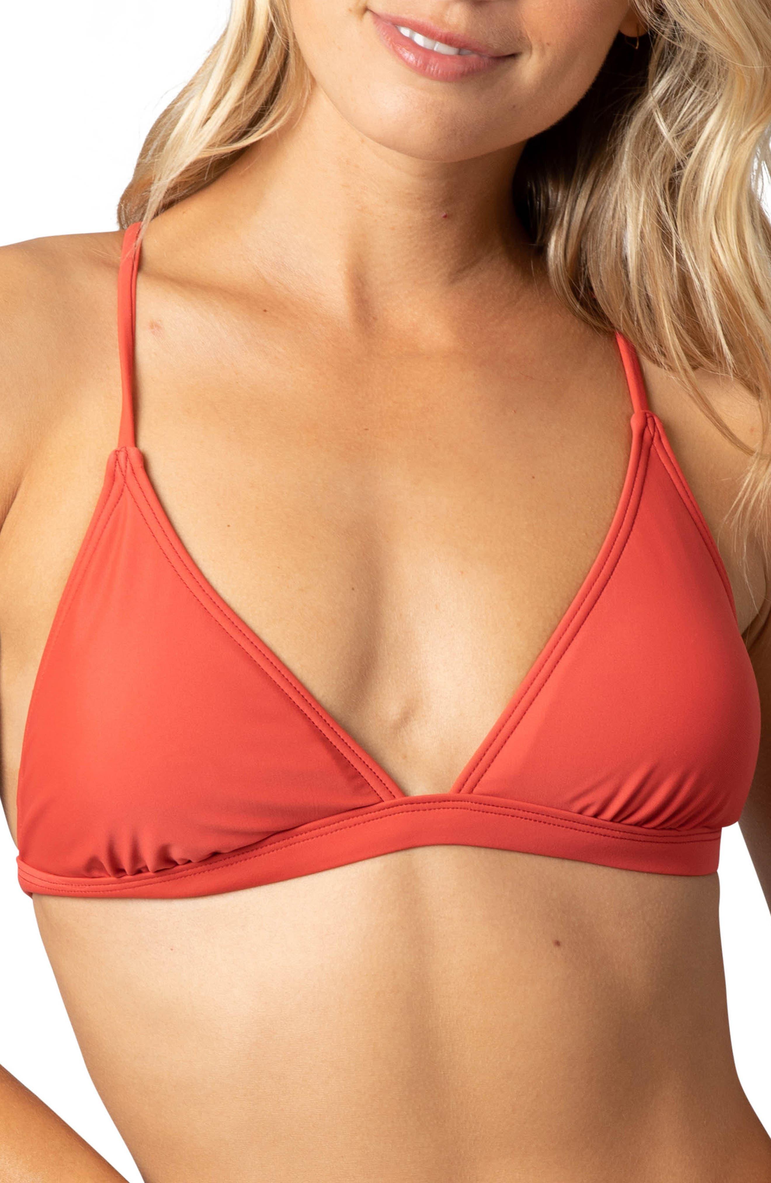 Rip Curl Classic Surf Crossback Bikini Top, Red