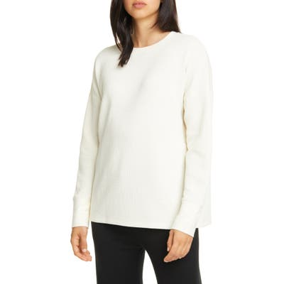 Eileen Fisher Crewneck Box Top Pullover, White